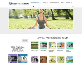 free-binaural-beats.com screenshot