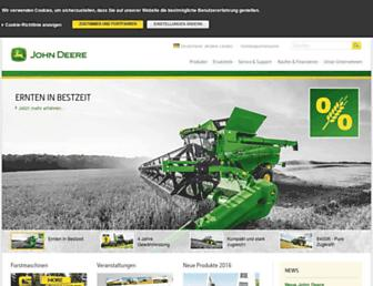 Main page screenshot of deere.de