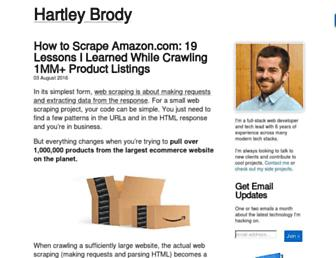 blog.hartleybrody.com screenshot