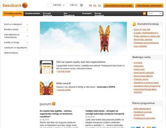 swedbank.lv screenshot