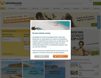 Main page screenshot of neckermann.nl