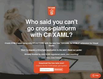 cshtml5.com screenshot