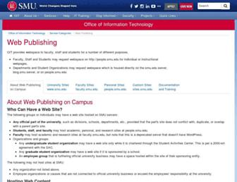 Main page screenshot of faculty.smu.edu