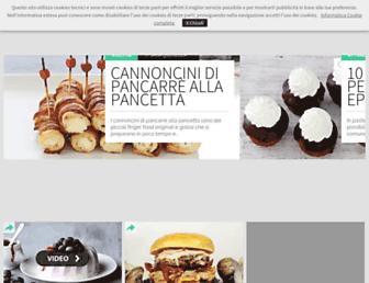 Main page screenshot of cucchiaio.it