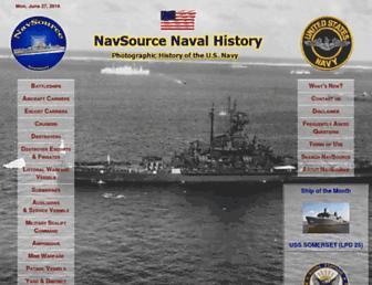 Main page screenshot of navsource.org