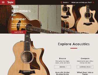 taylorguitars.com screenshot