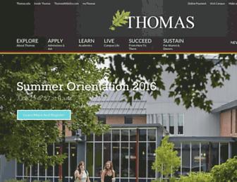 thomas.edu screenshot
