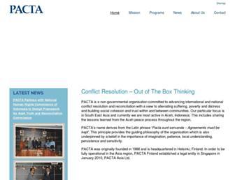 Main page screenshot of pacta.fi