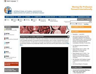 actuaries.org screenshot