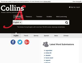 collinsdictionary.com screenshot