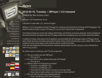 mplayerhq.hu screenshot