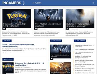 Main page screenshot of ingamers.de