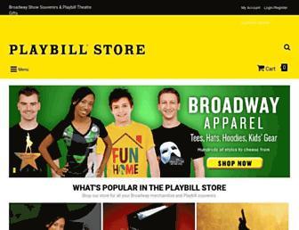 playbillstore.com screenshot
