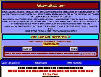 kalyanmatkafix.com screenshot