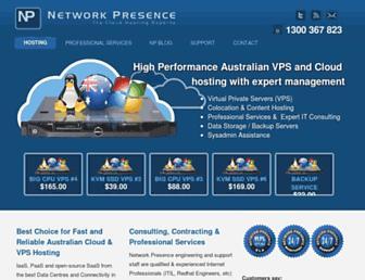 networkpresence.com.au screenshot