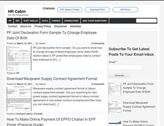 hrcabin.com screenshot