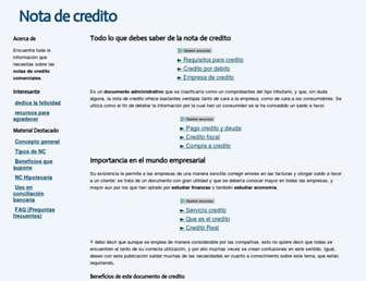 notadecredito.org screenshot