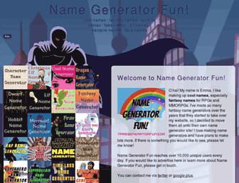 Thumbshot of Namegeneratorfun.com