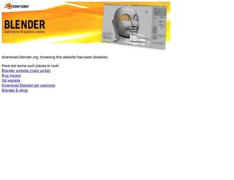 download.blender.org screenshot