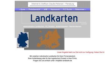 Main page screenshot of webmap.de