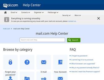 support.mail.com screenshot