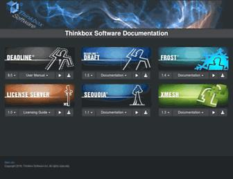 docs.thinkboxsoftware.com screenshot