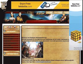 Main page screenshot of metin2-bilgisi.tr.gg