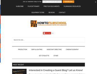 howtofilmschool.com screenshot
