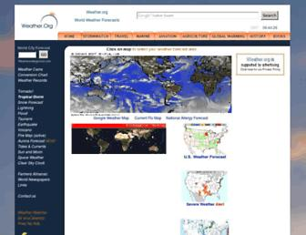 weather.org screenshot