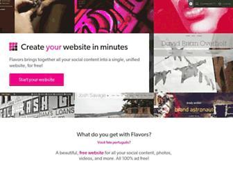 Main page screenshot of flavors.me