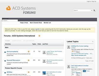 forum.acdsee.com screenshot
