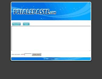 Thumbshot of Prialepaste.com