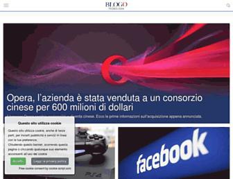Main page screenshot of ossblog.it