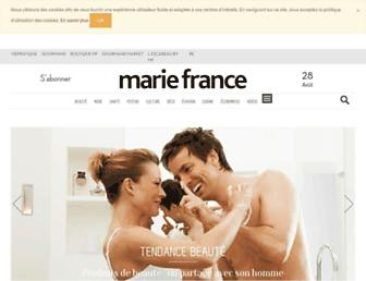 mariefrance.fr screenshot