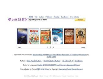 Thumbshot of Openisbn.com