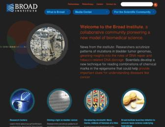 broadinstitute.org screenshot