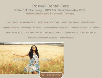 roswelldentalcare.com screenshot