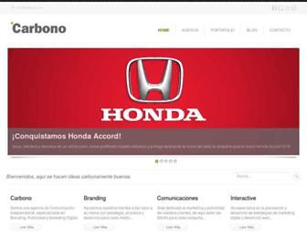 Main page screenshot of carbono.mx