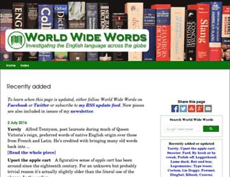 worldwidewords.org screenshot