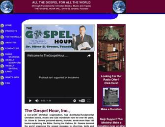 Main page screenshot of thegospelhour.org