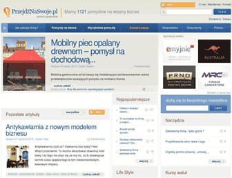Main page screenshot of przejdznaswoje.pl