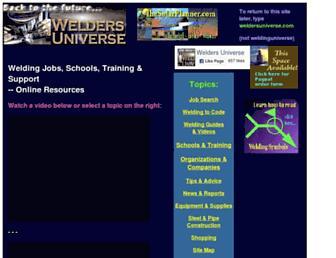 weldersuniverse.com screenshot