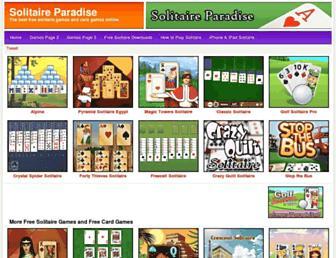 Thumbshot of Solitaireparadise.com
