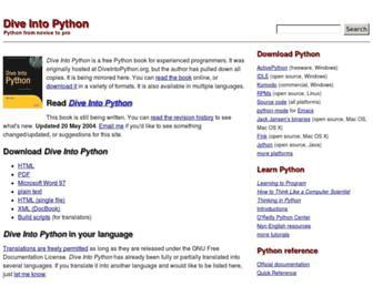 diveintopython.net screenshot
