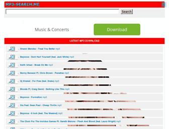 mp3-search.me screenshot