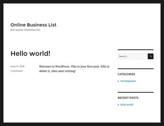 Thumbshot of Onlinebusinesslist.co.za