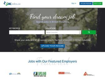 bcjobs.ca screenshot