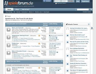 Main page screenshot of spieleforum.de