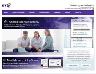 btconferencing.com screenshot