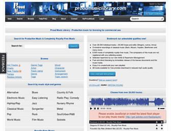 proudmusiclibrary.com screenshot
